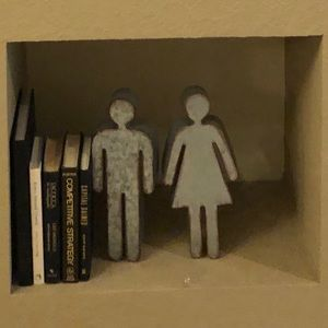 Other - Silver farmhouse modern male female statues